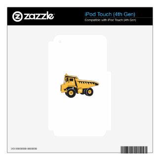 Dump Truck iPod Touch 4G Decals