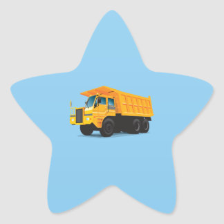 Dump Truck Star Sticker