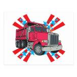 Dump Truck Stars Post Card