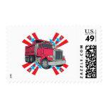 Dump Truck Stars Stamps