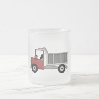 Dump Truck T-shirts and Gifts Frosted Glass Coffee Mug