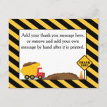 "Dump Truck Thank You Card<br><div class=""desc"">Enjoy this adorable dump truck thank you card. This is part of a collection located in our store. Invitation, matching envelopes for both, stickers, stamps, plates, bibs, blankets, t-shirts and so much more! Make it a special day when you put all of them together! Need something else, email me and...</div>"