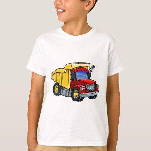 Dump Truck Tipper Cartoon T-Shirt
