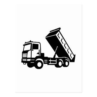 Dump truck tipper postcard