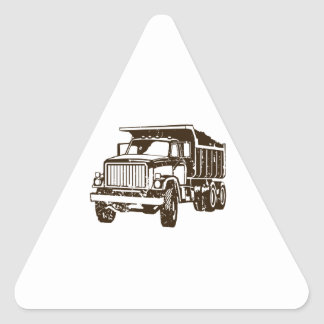 Dump Truck Triangle Sticker
