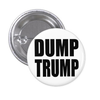"""""""DUMP TRUMP"""" 1 INCH ROUND BUTTON"""