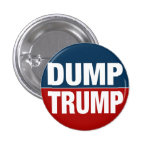 """DUMP TRUMP"" 1 INCH ROUND BUTTON"