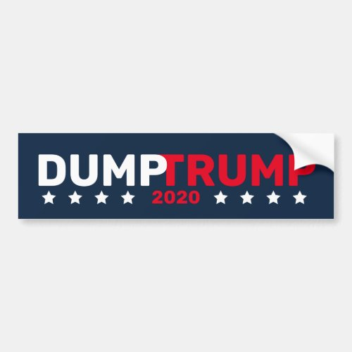 Dump Trump 2020 Bumper Sticker