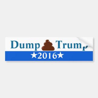 Dump Trump Anti-Trump Bumper Sticker