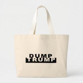 Dump Trump B&W Large Tote Bag