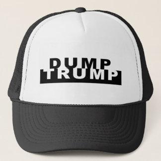 Dump Trump B&W Trucker Hat