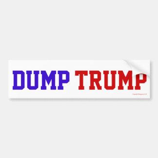 Dump Trump Bumper Sticker Car Bumper Sticker