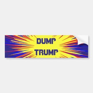 Dump Trump Car Bumper Sticker