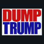 """DUMP TRUMP"" (double-sided) Lawn Sign<br><div class=""desc"">""DUMP TRUMP"" (double-sided) YARD SIGN</div>"