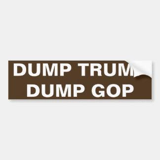DUMP TRUMP, DUMP G.O.P. BUMPER STICKER