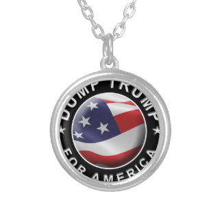 Dump Trump for America Official Logo Silver Plated Necklace