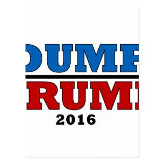 Dump Trump Hillary President 2016 Funny Postcard