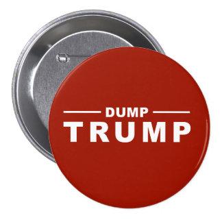 Dump Trump Large, 3 Inch Round Button