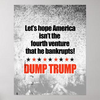 Dump Trump-Let's hope he doesn't bankrupt America Poster