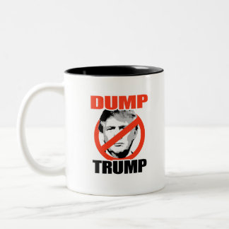 Dump Trump Now Two-Tone Coffee Mug