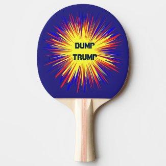 Dump Trump Ping Pong Paddle