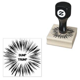 Dump Trump Political Wooden Stamp