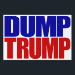 """DUMP TRUMP"" (single-sided) Sign<br><div class=""desc"">""DUMP TRUMP"" (single-sided) YARD SIGN</div>"
