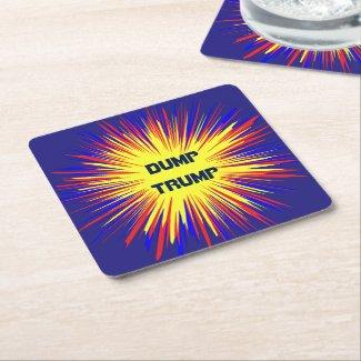 Dump Trump Square Paper Coaster