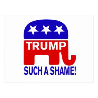 Dump Trump, Such a shame! Postcard
