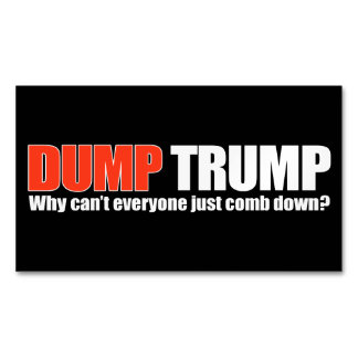 DUMP TRUMP - Why can't everyone just comb down - - Business Card Magnet