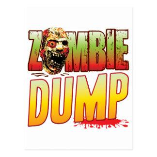 Dump Zombie Head Postcard