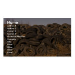 Dumped old tyres Double-Sided standard business cards (Pack of 100)