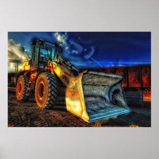 dumper truck construction bulldozer dozer poster
