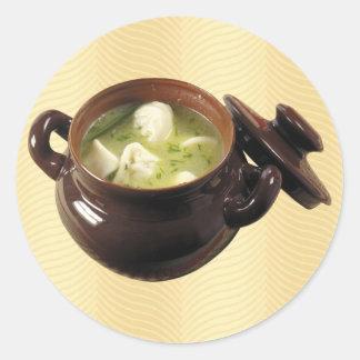 Dumpling Soup Classic Round Sticker
