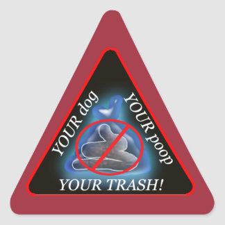 dump'n run triangle sticker