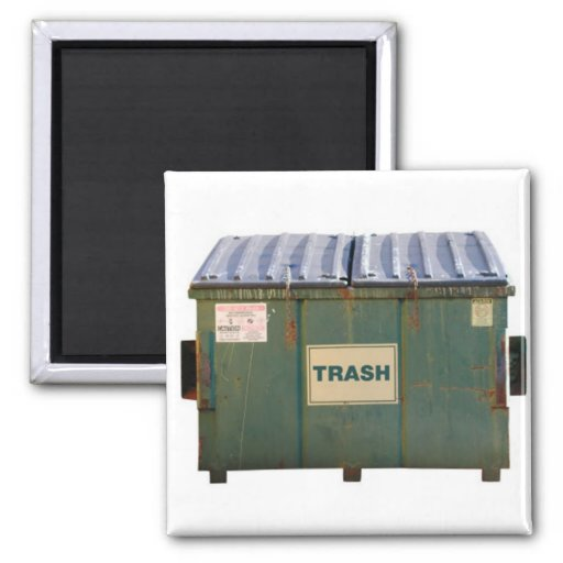 Dumpster 2 Inch Square Magnet