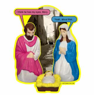 Dumpster Baby Jesus Ornament