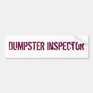 DUMPSTER Inspector Bumper Sticker