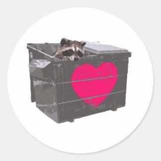 Dumpster Love Classic Round Sticker