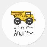 Dumptruck - Andrew Round Stickers