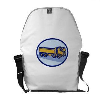 DumpTruck Oval Woodcut Messenger Bags