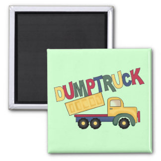 Dumptruck Tshirts and Gifts 2 Inch Square Magnet