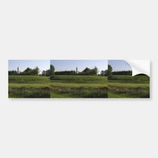 Dun Ailinne Monument At The Interpretative Park In Car Bumper Sticker