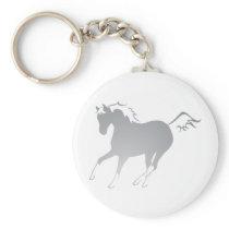 Dun Horse Keychain