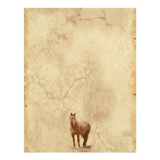 Dun rojo en el regalo equino de los Caballo-amante Plantillas De Membrete
