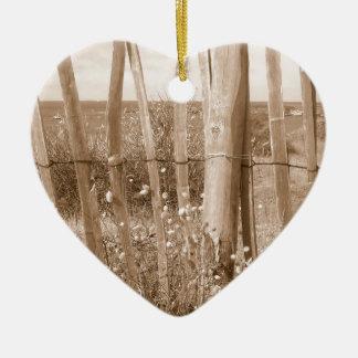 duna adorno navideño de cerámica en forma de corazón