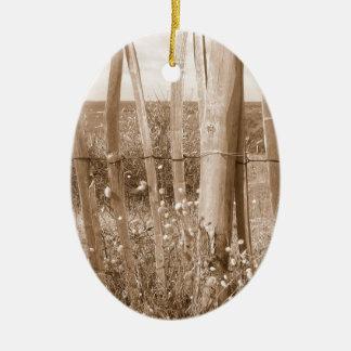 duna adorno navideño ovalado de cerámica