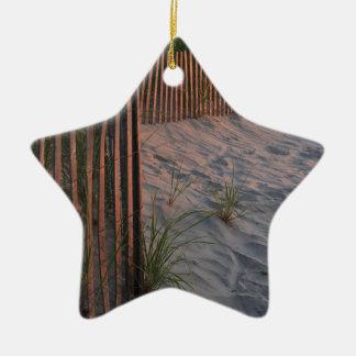 Duna de arena adorno navideño de cerámica en forma de estrella