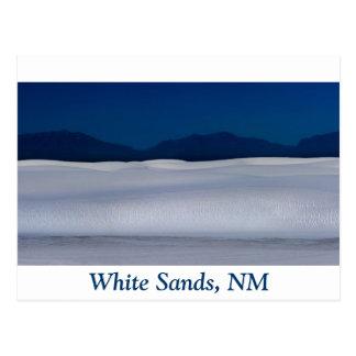 Duna de arenas blanca en la noche tarjetas postales