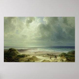 Duna por Hegoland, mar tranquilo Poster